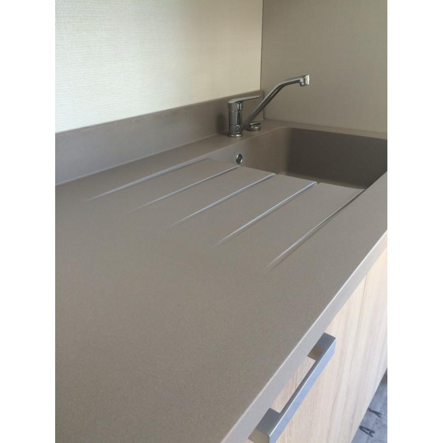 Plan de travail avec cuve droite planiquartz 140cm - Plan de travail cuisine largeur 100 cm ...
