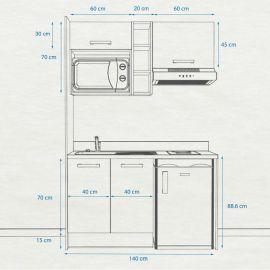 Kitchenette K13 - 140 cm