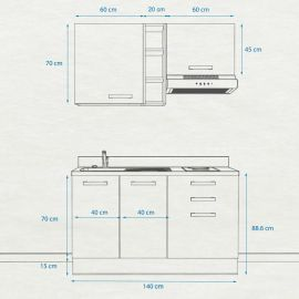 Kitchenette K15 - 140 cm