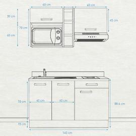 Kitchenette K16 - 140 cm