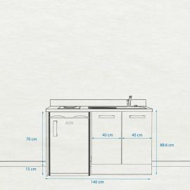 Kitchenette K17 - 140 cm