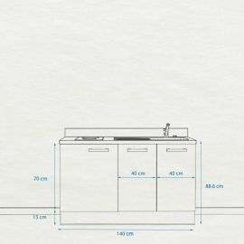 Kitchenette K18 - 140 cm