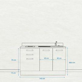 Kitchenette K19 - 140 cm