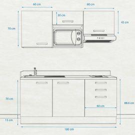 Kitchenette k21 - 180 cm
