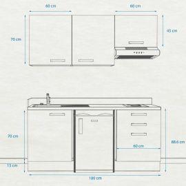 Kitchenette k23 - 180 cm