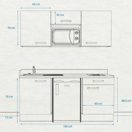 Kitchenette k24 - 180 cm