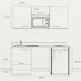 Kitchenette k25 - 180 cm