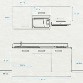 Kitchenette k30 - 180 cm