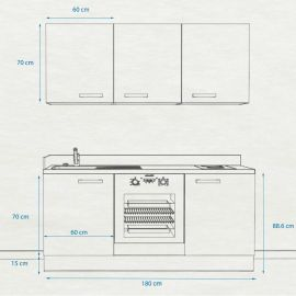 Kitchenette k31 - 180 cm