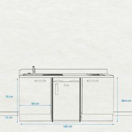 Kitchenette k32 - 180 cm