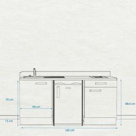 Kitchenette k33 - 180 cm