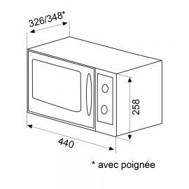 Micro-ondes pose libre GLEM avec option grill, blanc