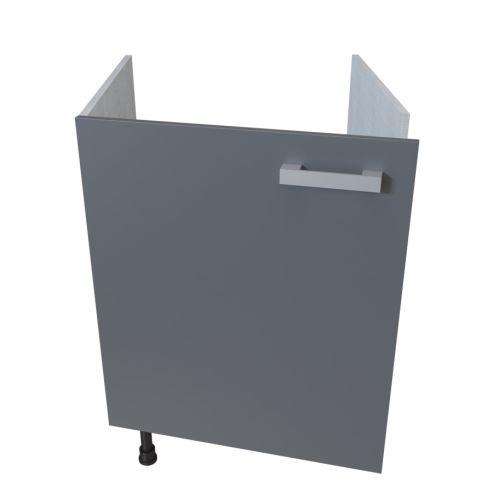 Meuble bas sous évier 1 porte - 60 cm - MACADAM