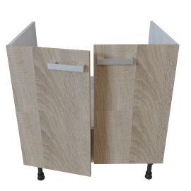 Meuble bas sous évier 2 portes - 80 cm - BARDOLINO