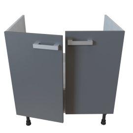 Meuble bas sous évier 2 portes - 80 cm - MACADAM