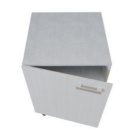 Meuble bas 1 porte - 60 cm - PIN BLANC