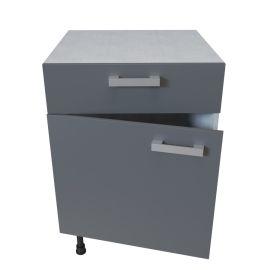Meuble bas 1 porte + 1 tiroir - 60 cm - MACADAM