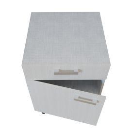 Meuble bas 1 porte + 1 tiroir - 60 cm - PIN BLANC