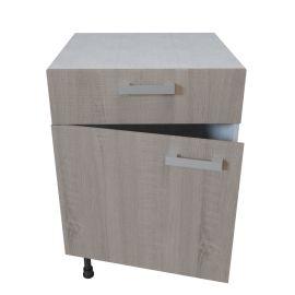 Meuble bas 1 porte + 1 tiroir - 60 cm - BARDOLINO