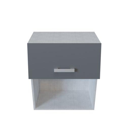 Meuble haut micro ondes 1 porte relevable + 1 niche - 60 cm - MACADAM