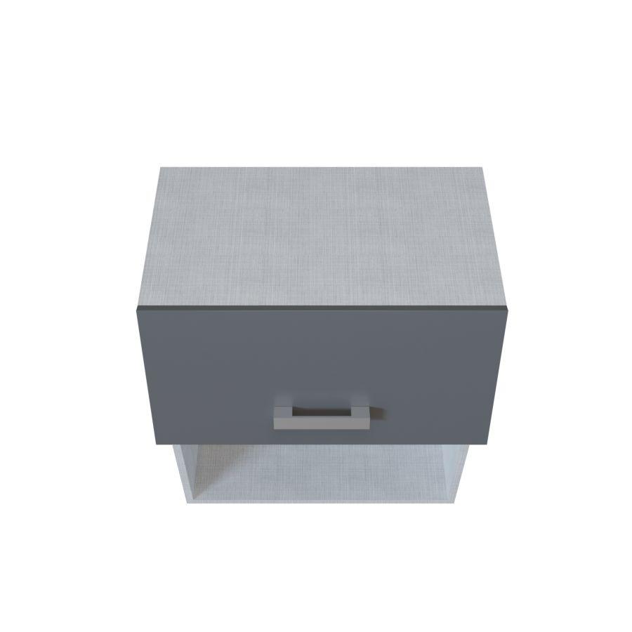 Meuble Haut Micro Ondes 1 Porte Relevable 1 Niche 60 Cm