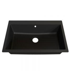 Cuve 76 cm x 50 cm à encastrer ou à poser - Noire - RESIROC